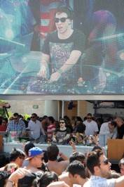 Hardwell spins at Marquee Dayclub.