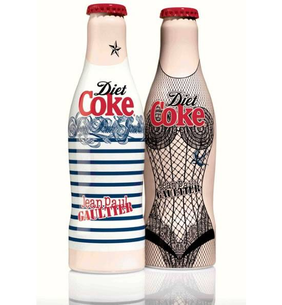 Haute Couture: Jean Paul Gaultier Designs Limited Edition Diet Coke Bottles