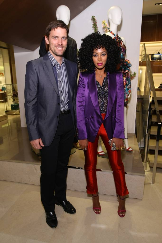James Ferragamo and Solange Knowles