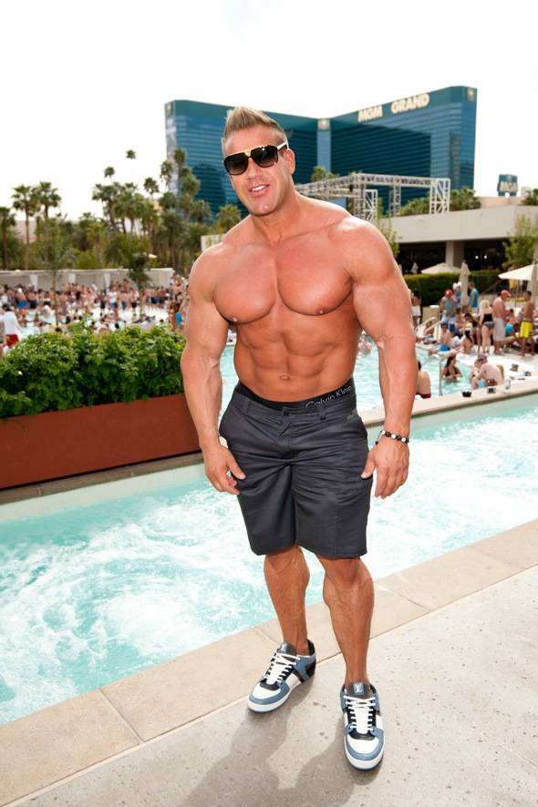 Haute Event: Jay Cutler Flexes His Muscles at Wet Republic