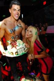 Jenna Jameson with her birthday cake.