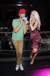 """Peepshow"" stars Josh Strickland and Holly Madison have fun with their Peeps at Chateau Nightclub & Gardens."