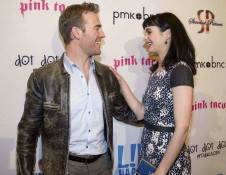 Actors James Van Der Beek and  Krysten Ritter