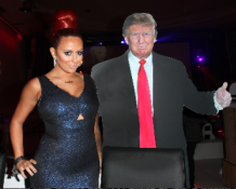 Aubrey O'Day and Donald Trump cut-out