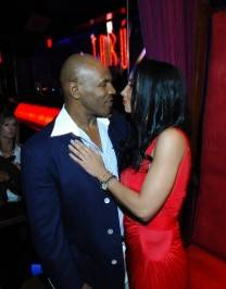 Mike Tyson and his wife Kiki at Tabú Ultra Lounge.