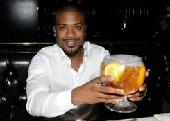 Ray J enjoys a Sunshine Tea at Sugar Factory in Las Vegas.