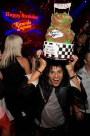 Ricardo Laguna with his birthday cake from Gimme Some Sugar.