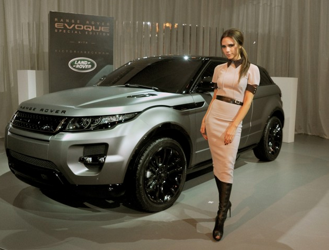 Victoria Beckham and Land Rover Design Team Debut Range Rover Evoque Special Edition in Beijing