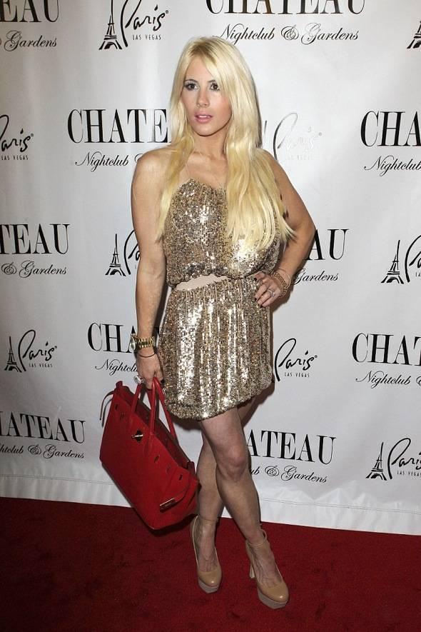 Shayne Lamas on the red carpet at Chateau Nightclub & Gardens.