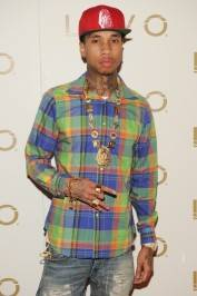 Tyga walks the red carpet at Lavo.