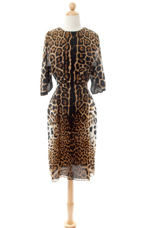 Yves Saint Laurent—Leopard Print Dress--0