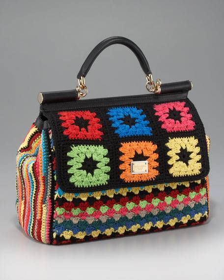 Haute Couture: Crocheted Rendition of Dolce & Gabbana Miss Sicily Handbag