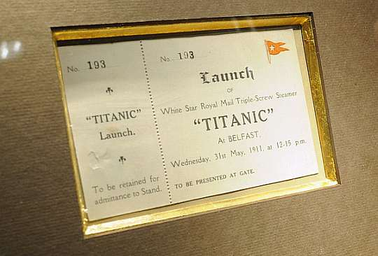 Original Titanic Launch Ticket Could Sell for up to $70,000 at Auction
