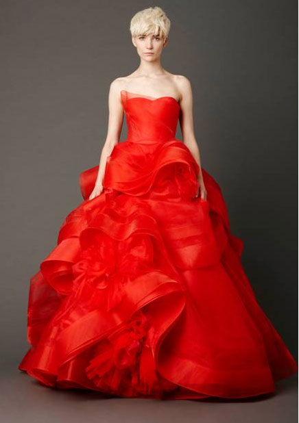 Vera Wang Brings Red Bridal Collection To LA
