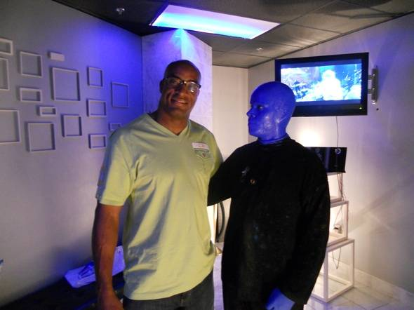 Haute Event: Andre Carter Checks Out the Blue Man Group