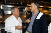 Chef Wolfgang Puck (L) and Bon Apetit Editor in Chief Adam Rapoport
