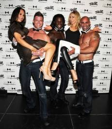 Cheryl Burke and Kym Johnson stopped by Chippendales at the Rio in Las Vegas.