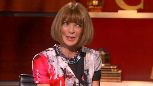 Haute 100 New York Updates: Anna Wintour Appears on Stephen Colbert's Show