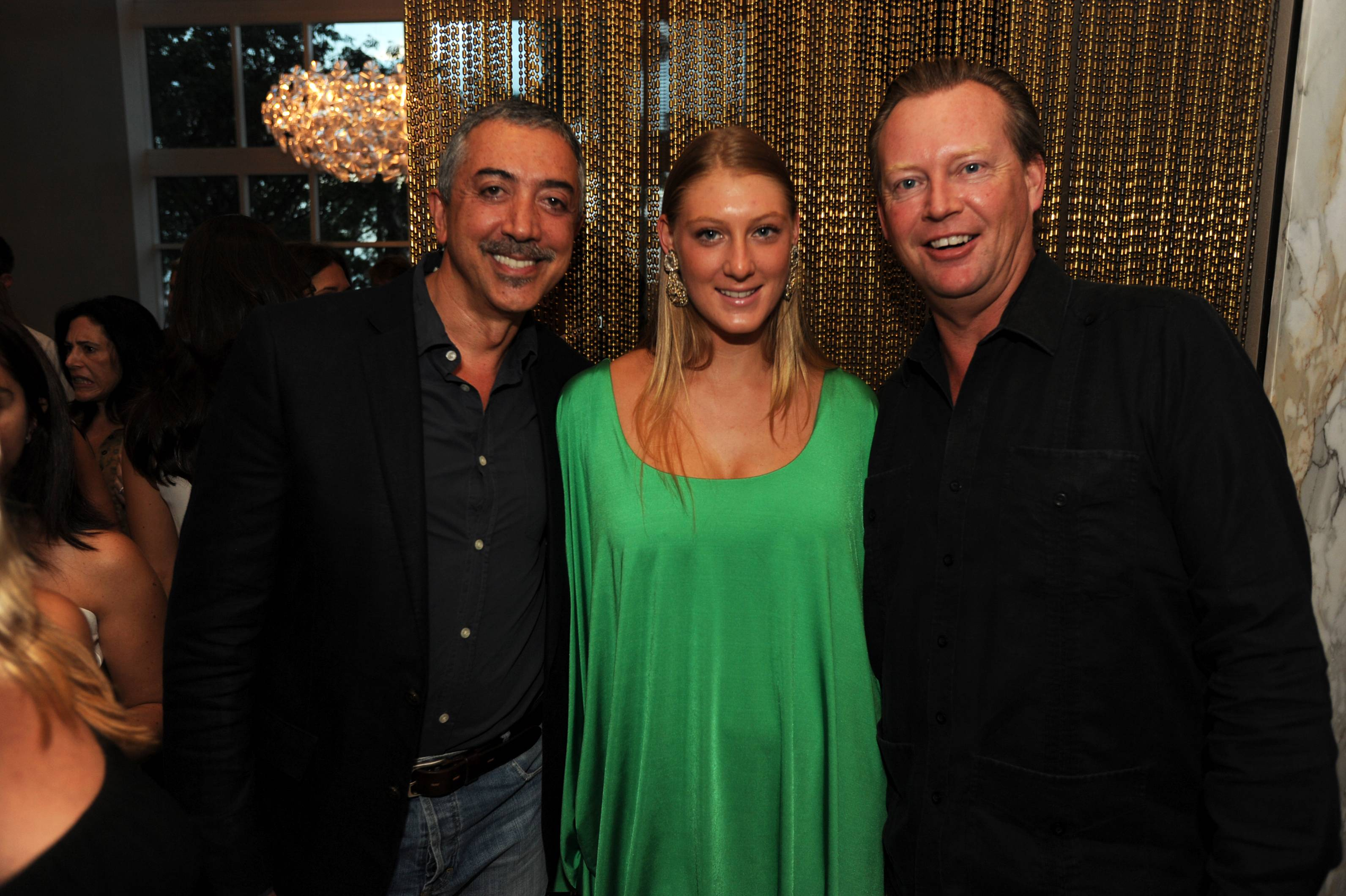 Ali Mahallati, Laura Preuss-Kuhne and Axel Preuss-Kuhne at the Paramount Bay Grand Opening