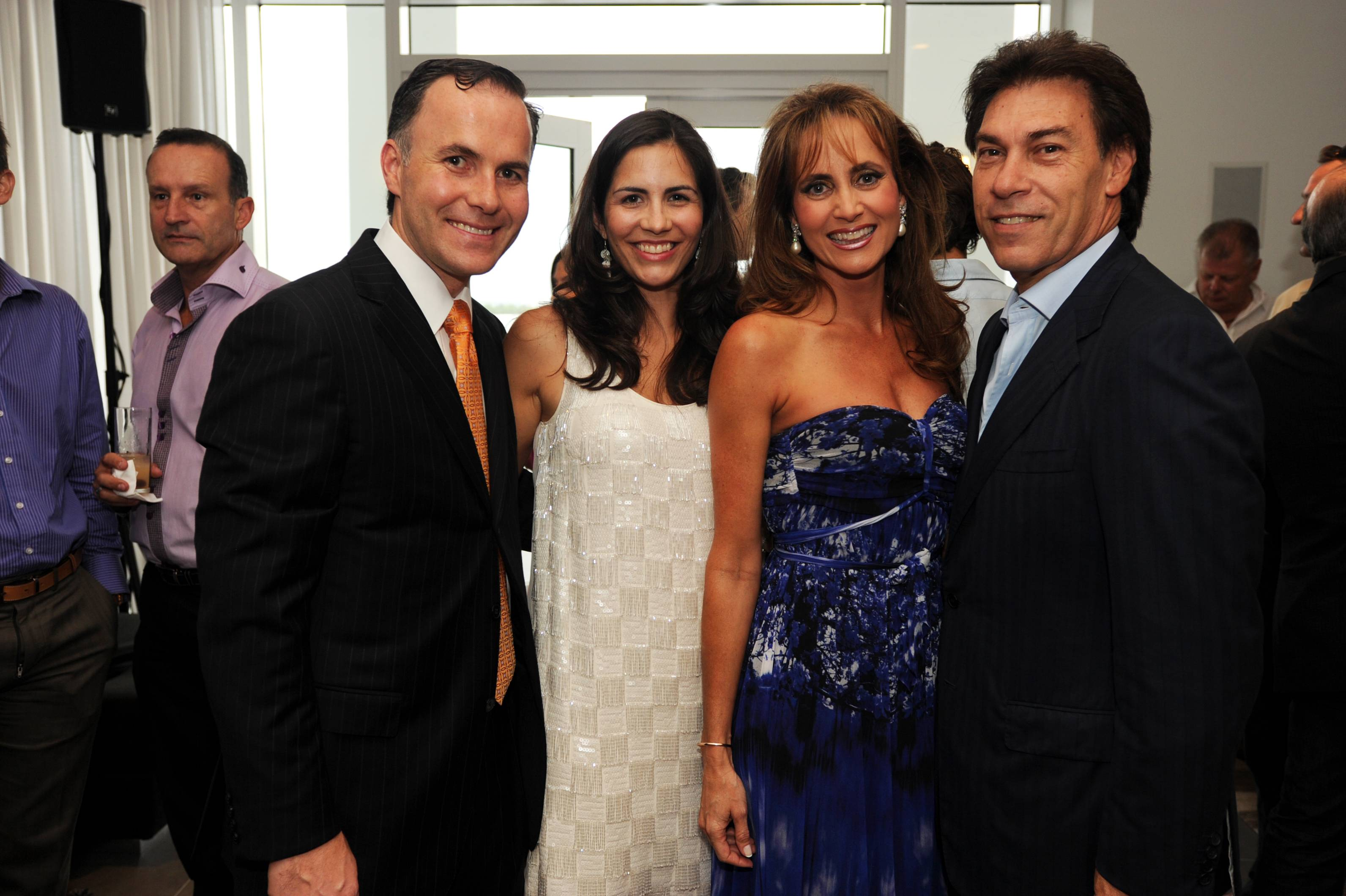 Anthony Burns, Jessica Burns, Ana Cristina Defortuna and Edgardo Defortuna at the Paramount Bay Grand Opening