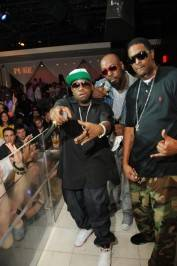 From left, Big Boi, Sleepy Brown and C-Bone at Pure Nightclub.