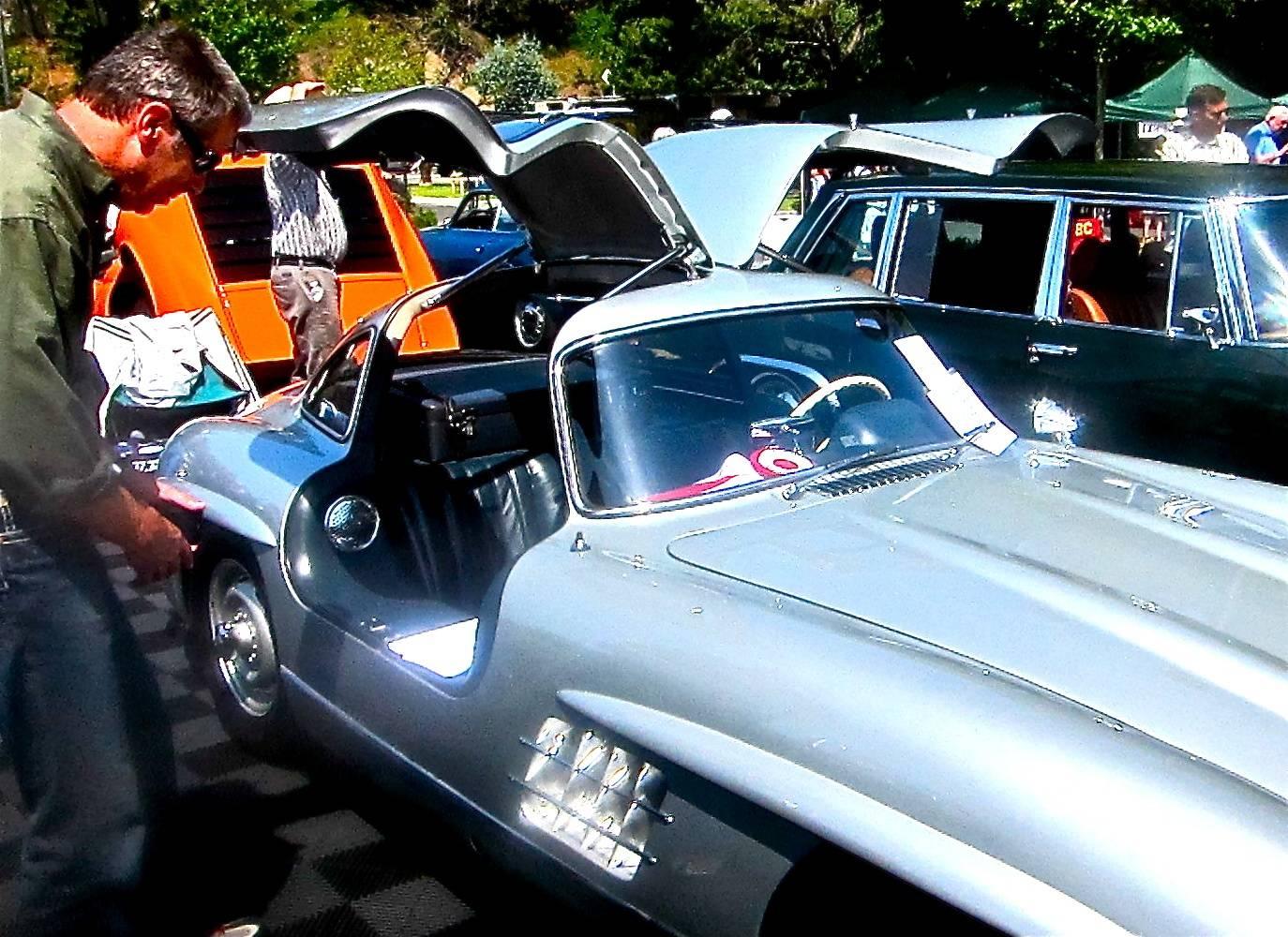 Gull-wing Mercedes