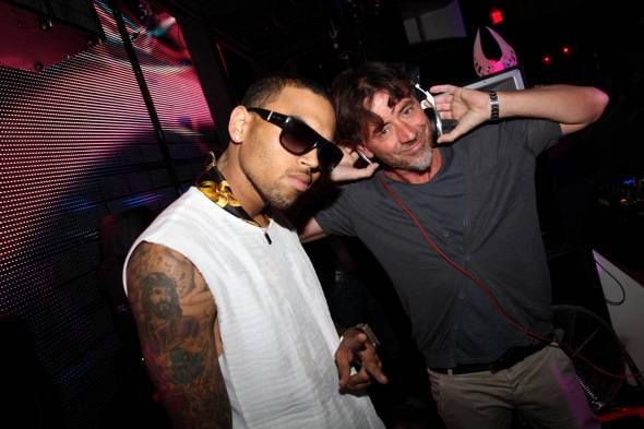 Chris Brown and Benny Benassi at Marquee