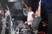 Chris Brown and Benny Benassi at Marquee Nightclub.