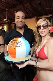Chris Lighty celebrates his birthday at Tao Beach with a cake from Gimme Some Sugar.