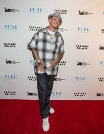 Chris Rene on the red carpet at Pure Nightclub.