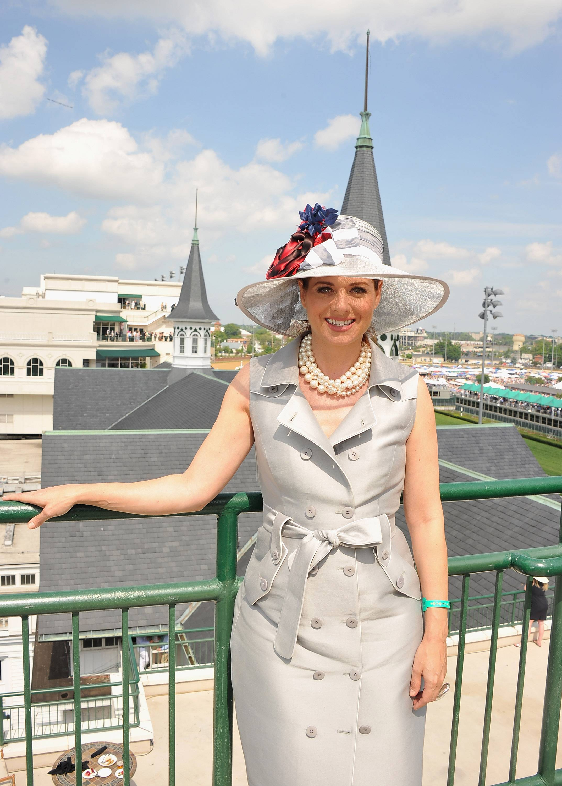 Debra Messing wears GREY GOOSE Cherry Noir Vodka Inspired Hat at the 2012 Kentucky Derby5