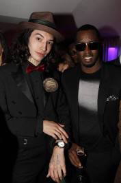 Ezra Miller and Sean Combs