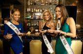 Miss USA contestants indulge in milk chocolate fondue at The Chocolate Lounge & Wine Bar.