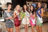 Miss USA contestants and Miss USA Alyssa Campanella pose at Sugar Factory in Las Vegas with Couture Pops.