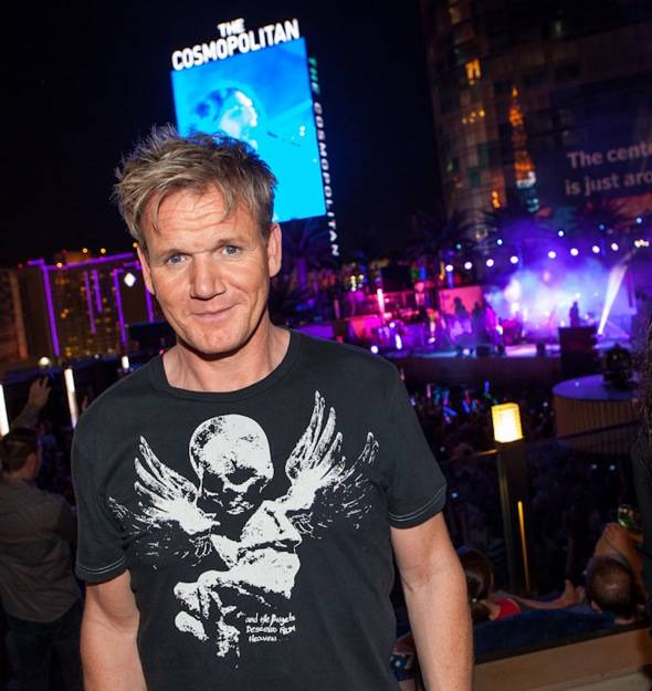 Gordon Ramsay at Snow Patrol