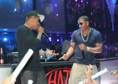 Nelly performs at Haze Nightclub.