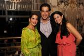 Isabella Holguin, Andres Asion and Catalina Martucci at the Paramount Bay Grand Opening