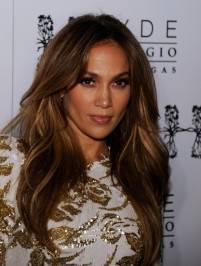 Jennifer Lopez on the red carpet at Hyde.