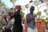 Ne-Yo and Jamie Foxx perform at Rehab.