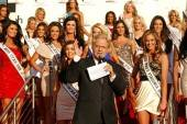 Jerry Springer, celebrity television personality and special guest host of The Price is Right Live! at Bally's Las Vegas, welcomes the Miss USA contestants at Planet Hollywood Resort.