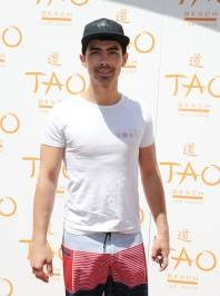 Joe Jonas on the red carpet at Tao Beach.