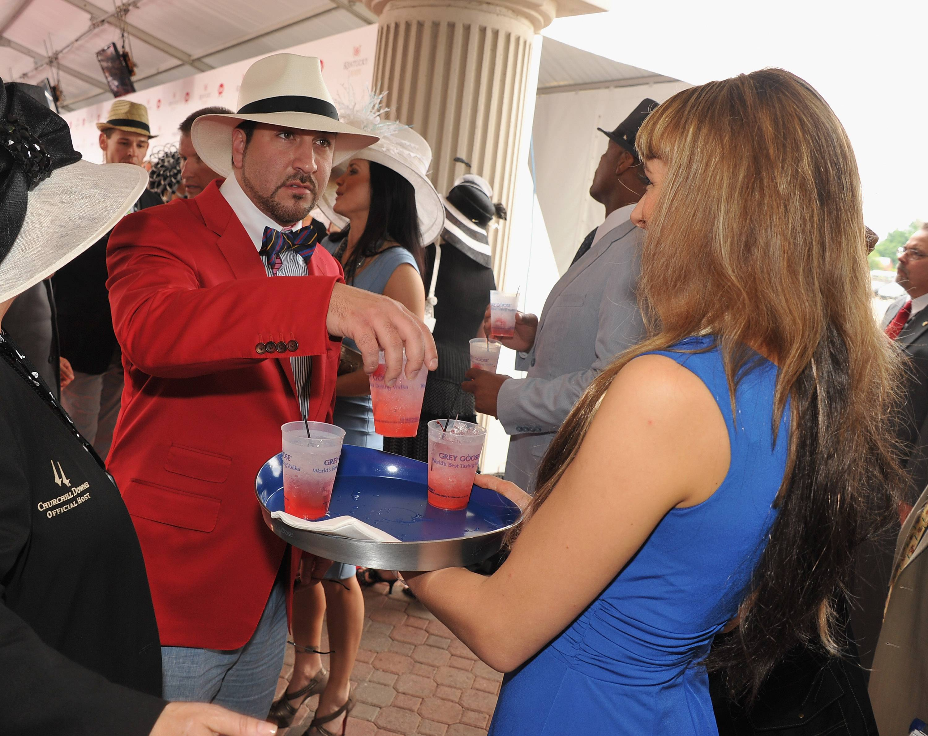 Joey Fatone  at the GREY GOOSE Vodka Lounge at the 138th Running of the Kentucky Derby.