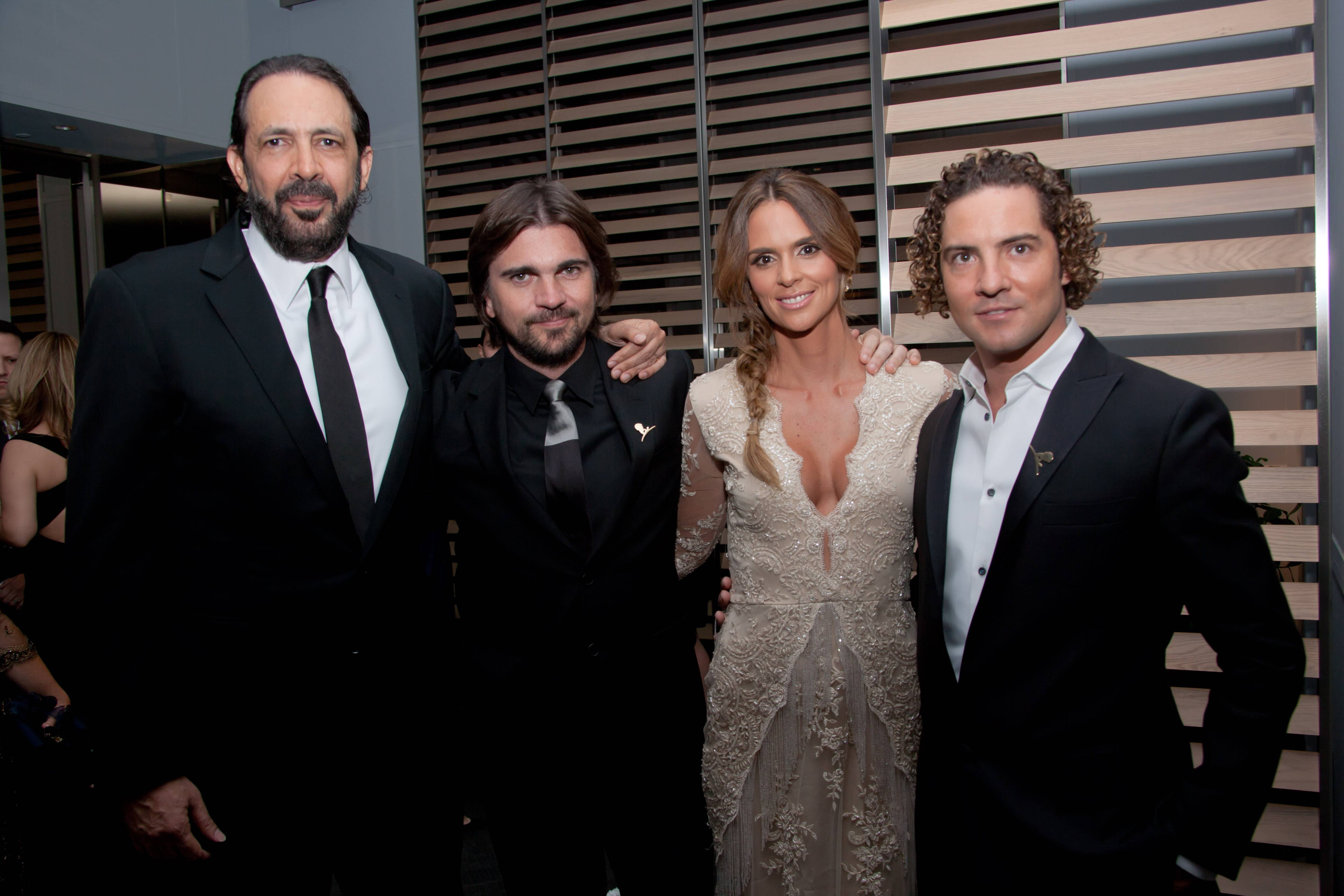 Juan Luis Guerra, Juanes, Karen Martinez and David Bisbal