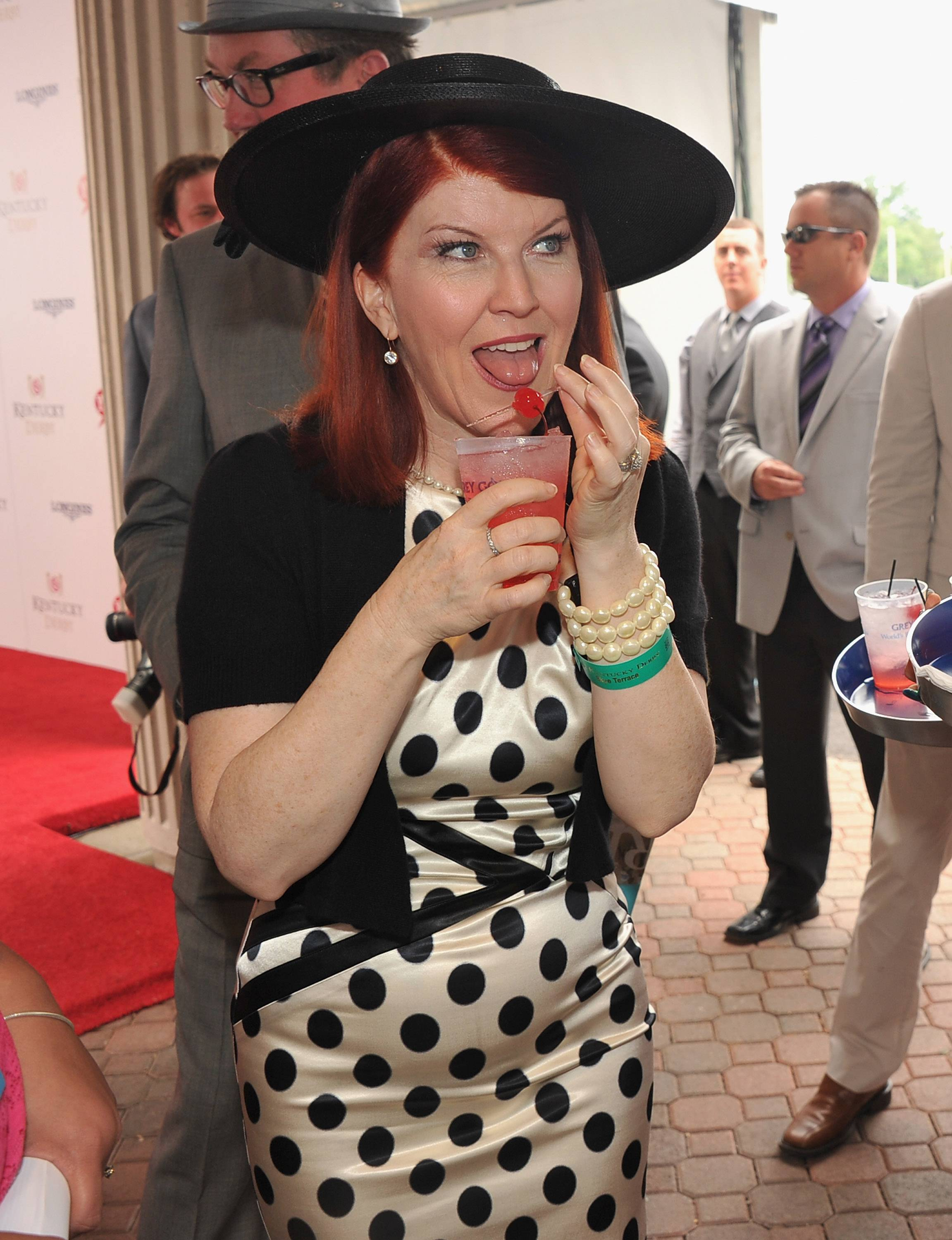 Kate Flannery  at the GREY GOOSE Vodka Lounge at the 138th Running of the Kentucky Derby.