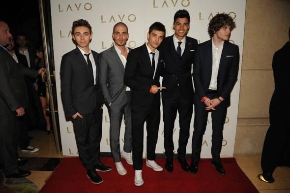 British Pop stars, The Wanted, at LAVO Nightclub