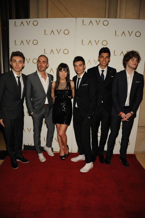 British Pop stars, The Wanted, with Carly Rae Jepsen at LAVO Nig