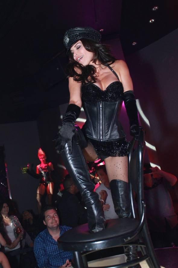 Haute Event: Lauren Sanchez Puts on a Show at the Pussycat Dolls Burlesque Saloon
