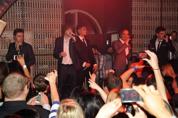 British Pop stars, The Wanted, at LAVO Nightclub