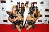 Meagan Good, Robin Antin and Pussycat Dolls on the red carpet.