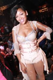 Meagan Good at Gallery Nightclub (Photo by Jeff Ragazzo)